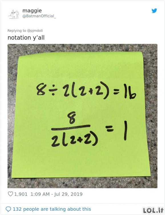 Ar galite tai išspręsti? Lengva matematinė užduotėlė, kuri priverčia ginčytis dėl atsakymų
