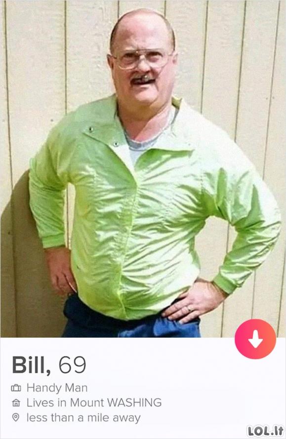 Labai juokingas profilis Tinderyje