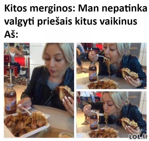 Valgymas prieš vaikinus