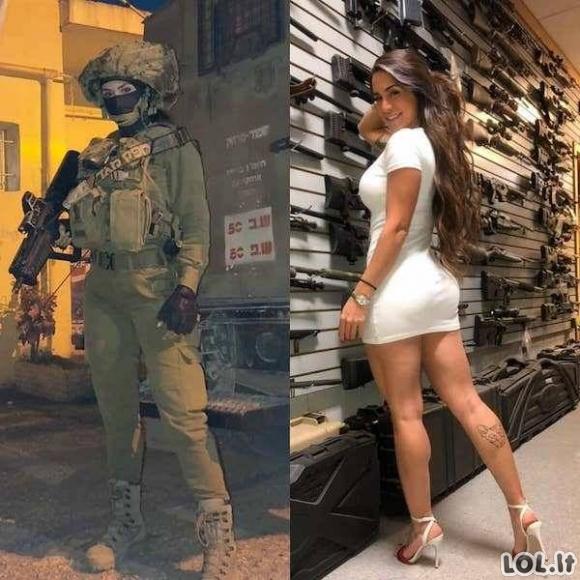 Gražios uniformuotos merginos [GALERIJA]