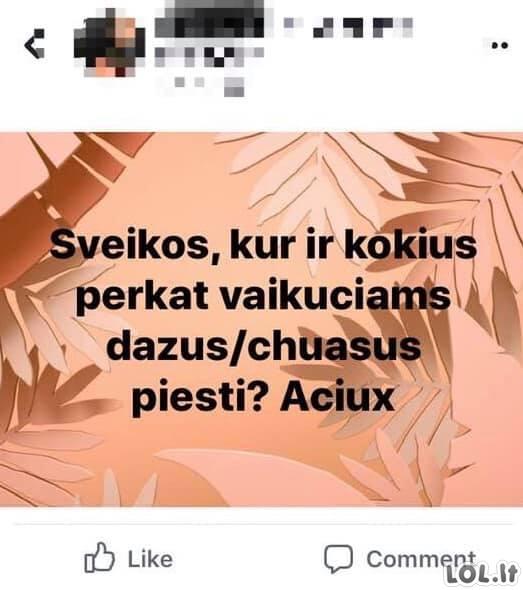 Lietuvių neraštingumas socialiniuose tinkluose [GALERIJA]