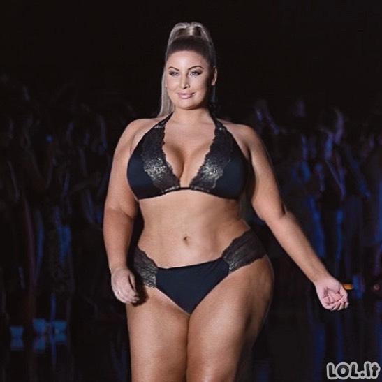Plius dydžio modelis, su labiau akį traukiančiomis formomis už pačią Kim Kardashian