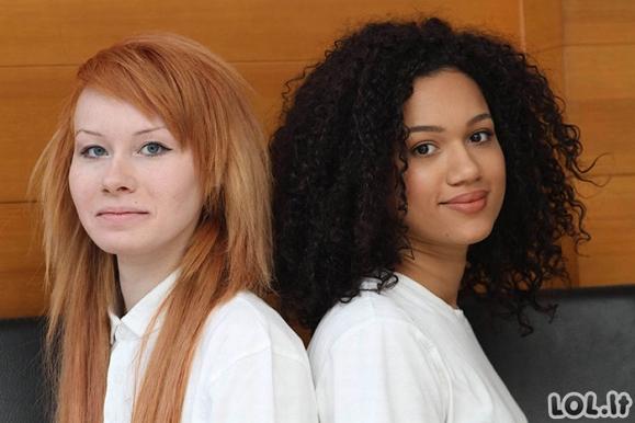 Dvynukės, prieš daugiau, nei 20 metų gimė su skirtinga odos spalva, pažiūrėkite, kaip jos atrodo dabar