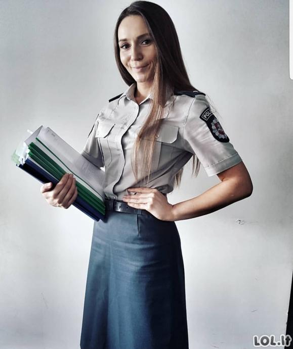 Gražiausios Lietuvos policininkės, saugančios mus visą parą [GALERIJA]