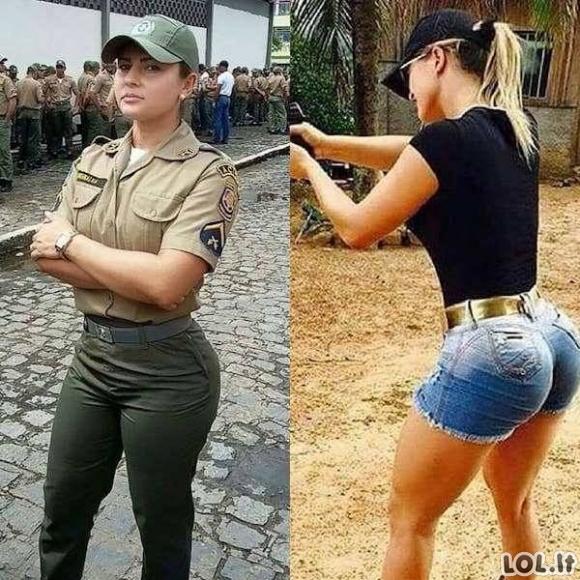 Gražios uniformuotos merginos pasirodė be uniformos [GALERIJA]