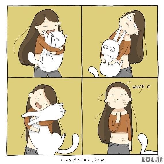 Kai nori stipriai paniurkyti katinuką