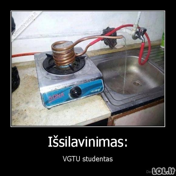 VGTU inžinerijos studento išsilavinimas