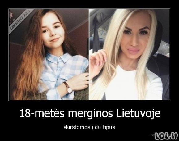 18-metės merginos Lietuvoje