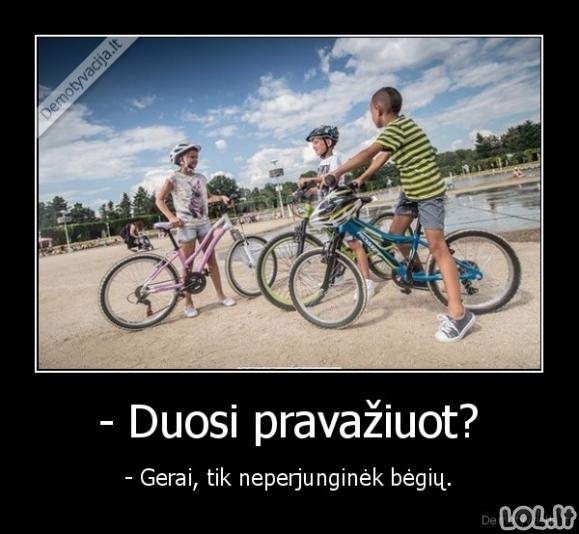 Prasilėkimas su draugo dviračiu vaikystėje