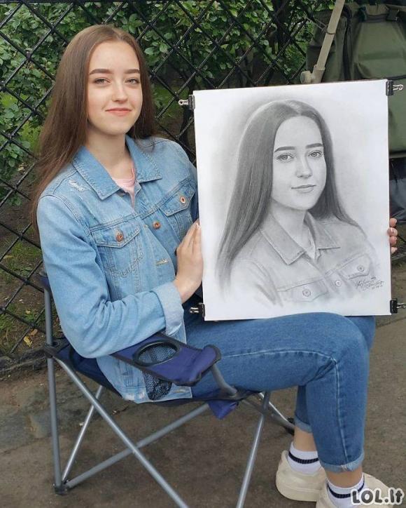 Rusų menininkas, kuris tobulai nupieš Jūsų portretą per vieną valandą
