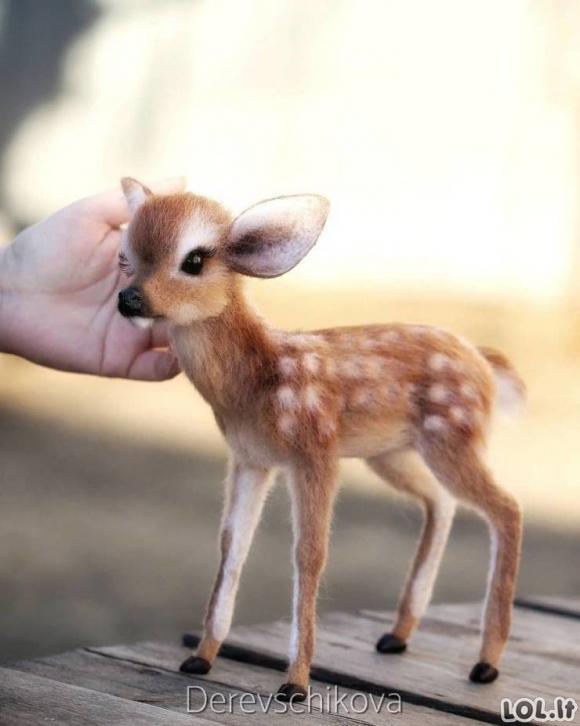 Mieli gyvūnai iš vilnos veltinių [GALERIJA]