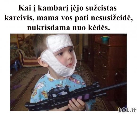 Sužeistas kareivis