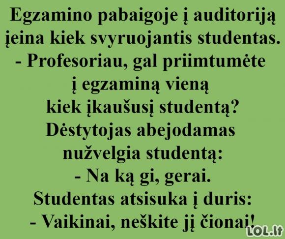 Apie įkaušusį studentą