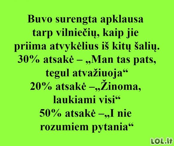 Apklausa Vilniuje
