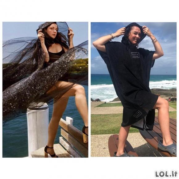 """Populiariausios žinomų žmonių nuotraukos """"Instagram"""" platformoje virsta tobulomis australų komikės parodijomis"""