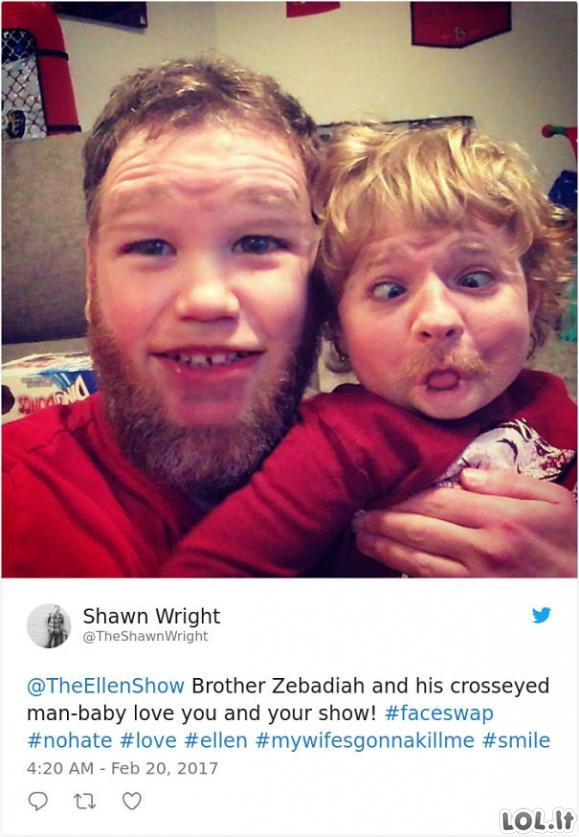 Kai sukeiti vaikų veidą per veidų sukeitimo programėlę [GALERIJA]