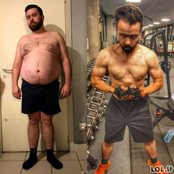 Žmonės pasidalino savo pasiekimais keičiant savo išvaizdą