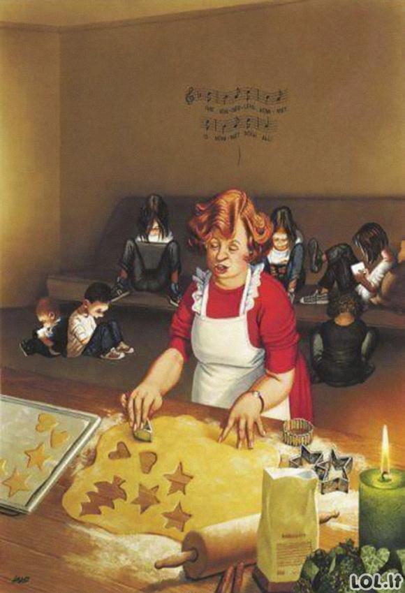 Atviros iliustracijos, atskleidžiančios tai, kas negerai su mūsų šiandienine visuomene