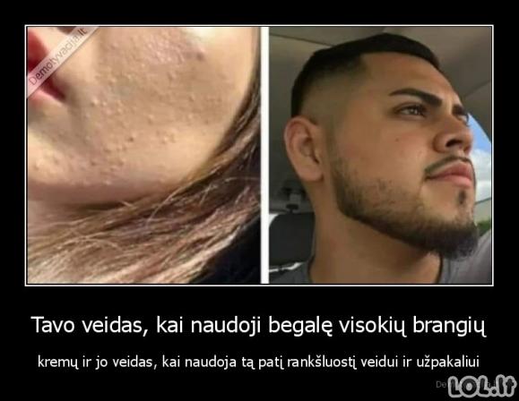 Skirtumas tarp vyrų ir moterų veido