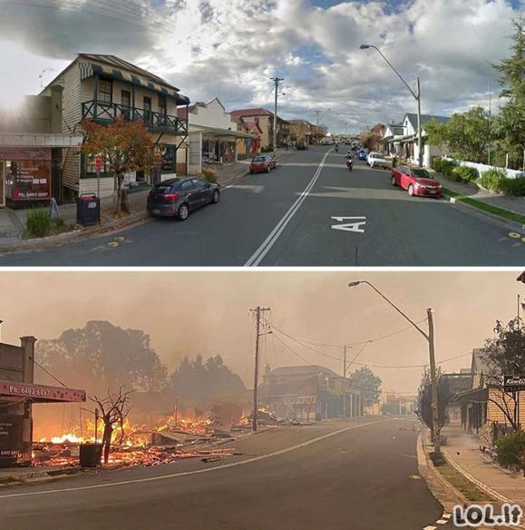 Skaudžios gaisrų pasekmės Australijoje