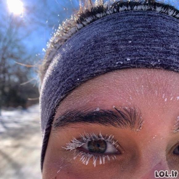 Ekstremalios nuotraukos, parodančios, kokia iš tiesų gali būti šalta žiema [GALERIJA]