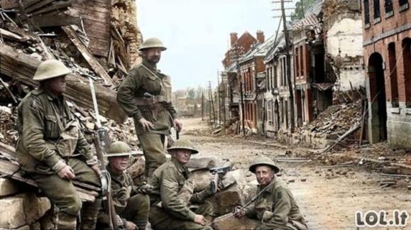 I-ojo pasaulinio karo nuotraukos - spalvotai! [GALERIJA]