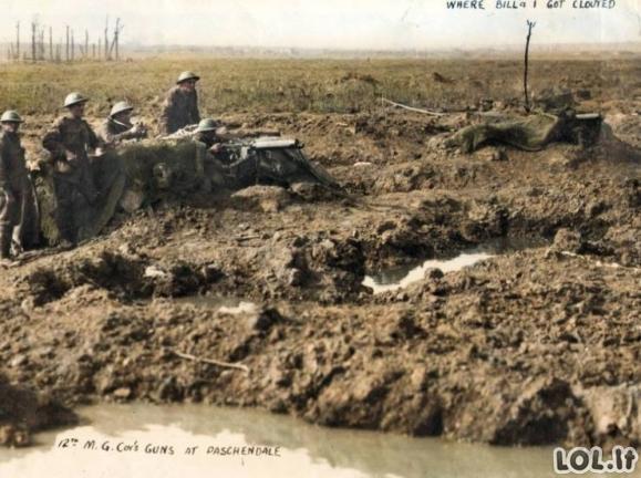 Pirmojo pasaulinio karo nuotraukos SPALVOTAI [GALERIJA]