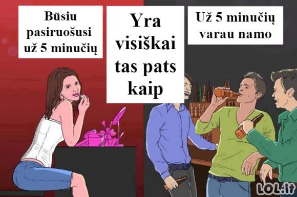 Vienodos vyrų ir moterų 5 minutės