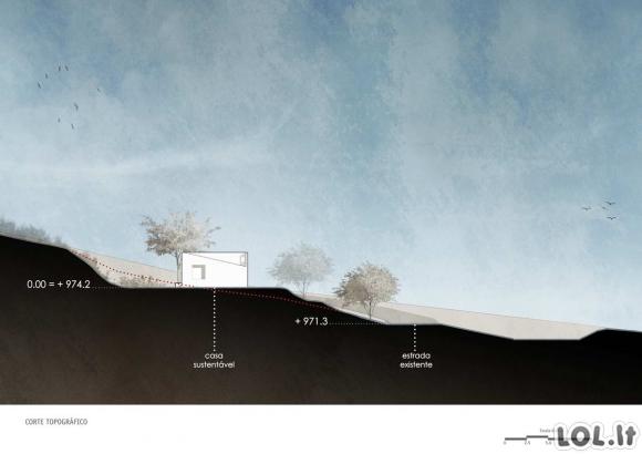Labai kompaktiškas ir efektyvus 45 m² namas Brazilijoje