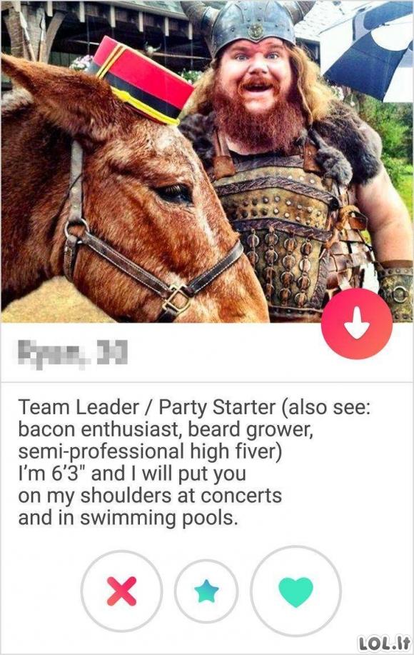 Štai kaip turi atrodyti Tinder profilis!