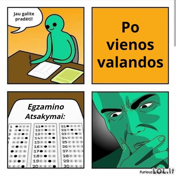 Egzamino atsakymai