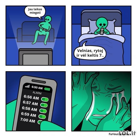 Kai esi pastovus naktinėtojas