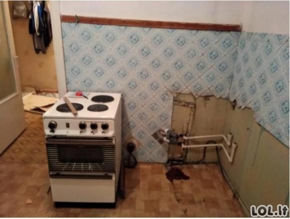 Kol tėvai atostogavo kelionėje, vaikai suremontavo jų butą