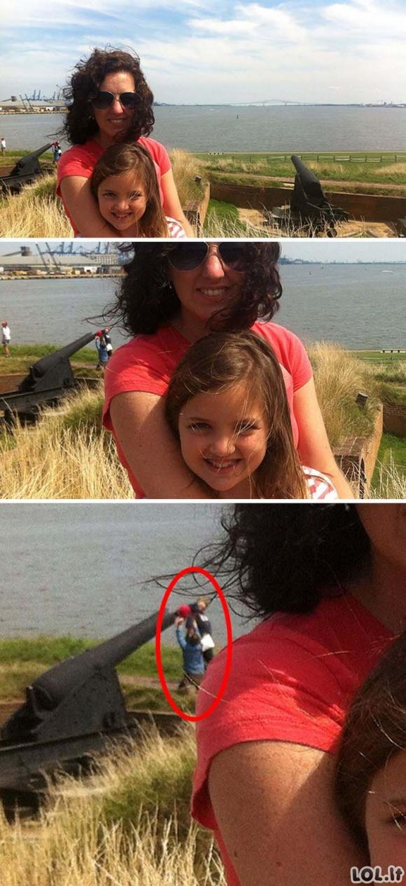 Juokingos nuotraukos, kurias sugadino prastas fonas ir atspindžiai [GALERIJA]