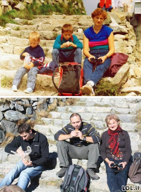 Žmonės atkuria savo senas nuotraukas [GALERIJA]