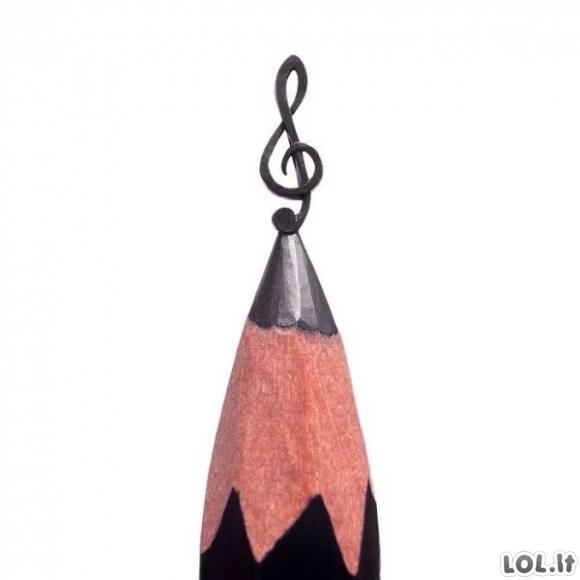 Įspūdingas menas ant pieštuko galo [GALERIJA]