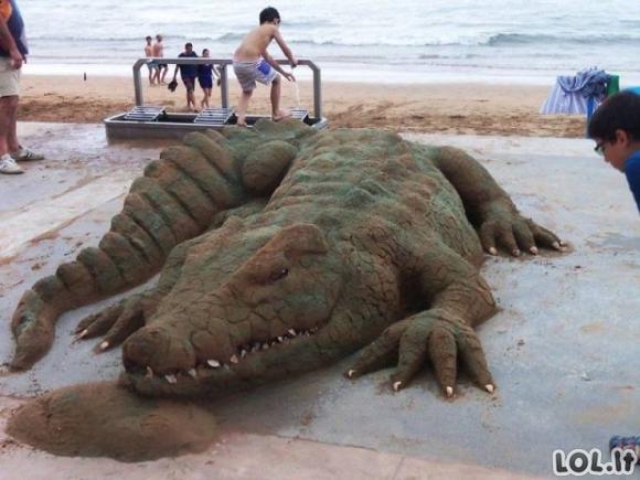 Įspūdingos smėlio skulptūros [GALERIJA]