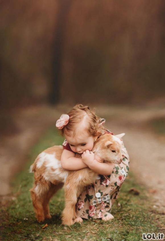 Vaikai ir gyvūnai [GALERIJA]