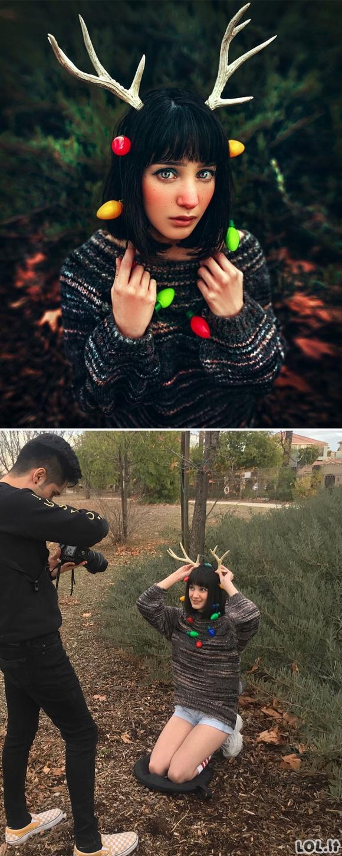 Talentingas fotografas pademonstravo, kas slypi tobulų nuotraukų fone