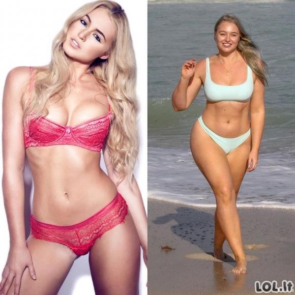 Supermodeliai, kurie mėgsta skaniai pavalgyti, todėl neišsaugojo savo geros išvaizdos