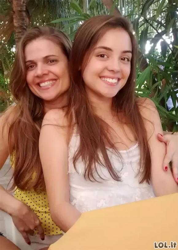 Mamos ir dukros, į kurias bežiūrint taip lengvai nesuprasi, kuri yra mama, o kuri dukra