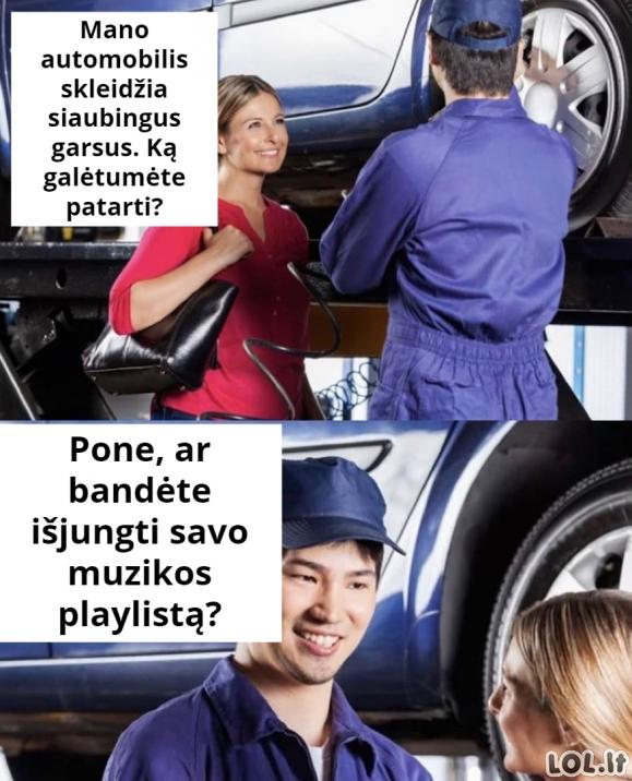 Siaubingi automobilio garsai