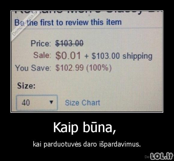 Išpardavimai parduotuvėse