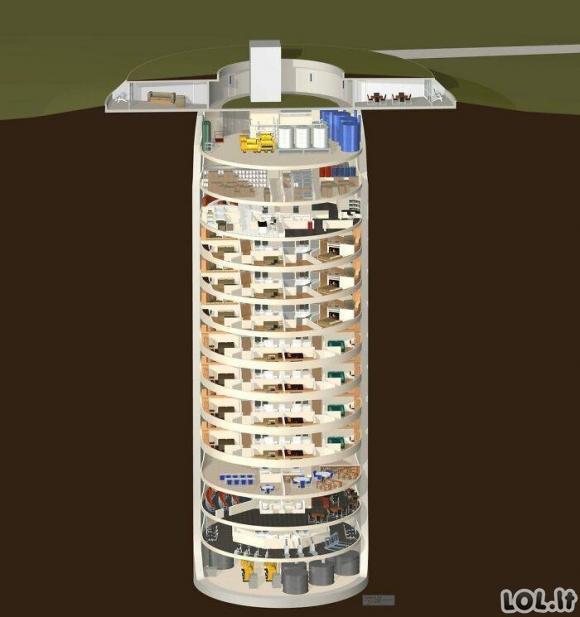 3 milijonų dolerių vertės bunkerio viduje [GALERIJA]