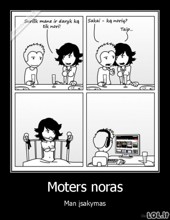 Moters noras