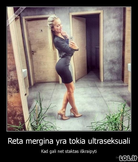 Ultraseksuali mergina