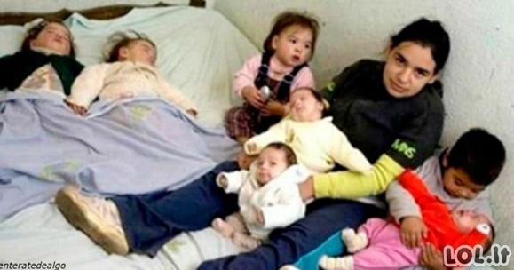 Viskas prasidėjo nuo 17-os metų, kai ji tapo mama, šiandien ji augina 7 vaikus viena