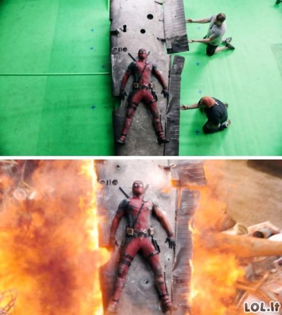 Kaip atrodo įvairios filmų scenos iki uždedant specialiuosius efektus [GALERIJA]