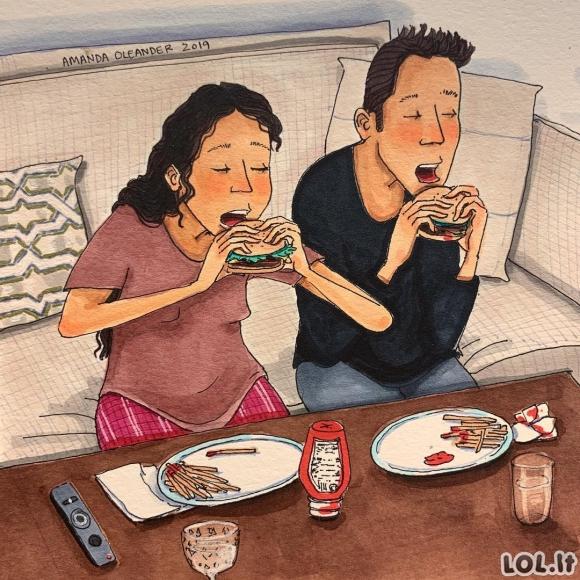 Menininkė piešia iliustracijas, kurios parodo kaip atrodo tikra meilė