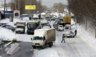 Žiemos potvynis Jekaterinburge (24 nuotraukos)